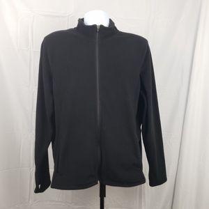 Old Navy womens XL full zip black fleece
